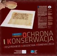 Szelong, Krzysztof, 2010, Ochrona i konserwacja cieszyńskiego dziedzictwa piśmienniczego