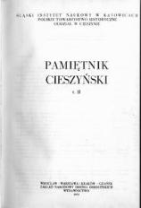 Pamiętnik Cieszyński, 1972, T. 2