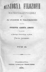Historya filozofii materyalistycznej i jej znaczenie w teraźniejszości. T. 2