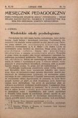 Miesięcznik Pedagogiczny, 1938, R. 47, nr 11