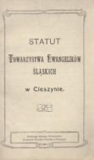 Statut Towarzystwa Ewangelików Śląskich w Cieszynie