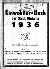 Einwohner-Buch der Stadt Gleiwitz 1936