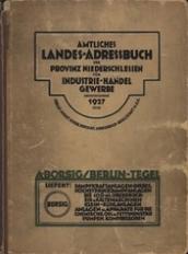 Amtliches Landes-Adressbuch der Provinz Niederschlesien für Industrie, Handel, Gewerbe 1927
