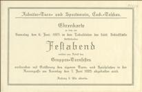 Zaproszenie na Święto Sportowe zespołów gimnastycznych w dniach 06. i 07.06.1925 r. w Czeskim Cieszynie