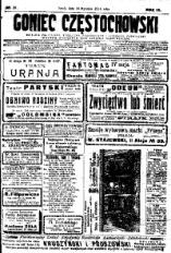 Goniec Częstochowski, 1914, R. 9, No 28