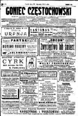 Goniec Częstochowski, 1914, R. 9, No 30