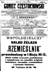 Goniec Częstochowski, 1914, R. 9, No 32