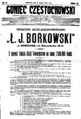 Goniec Częstochowski, 1914, R. 9, No 38
