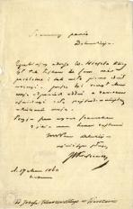 Listy Józefa Ignacego Kraszewskiego i kartka ze sztambucha