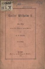 Kaiser Wilhelm II. Eine Skizze nach der Natur gezeichnet
