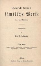 Heinrich Heine's sämtliche Werte in vier Bänden. Ersten Band [t. 1]