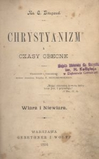 Chrystyanizm i czasy obecne