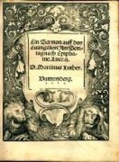 Ein Sermon auff das Euangelion am Sontag nach Epiphanie. Luce. ij. / ... Martinus Luther