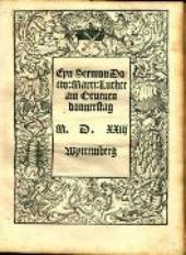 Eyn Sermon Docto. Marti. Luther am Gruenen Donnerstag