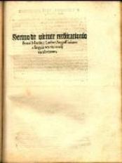 Sermo de virtute exco[mmun]icationis Fratri Martino Luther... a linguis terciis tande[m] euerberatus
