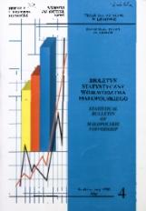 Biuletyn Statystyczny województwa małopolskiego, 1999, nr 4