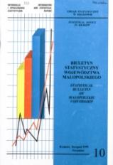 Biuletyn Statystyczny województwa małopolskiego, 1999, nr 10