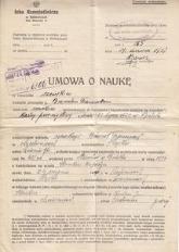 Umowa o naukę w rzemiośle szewskim 1937 r