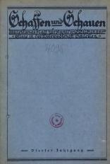 Schaffen und Schauen, 1927, Jg. 4, nr. 1