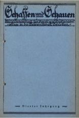 Schaffen und Schauen, 1928, Jg. 4, nr. 8