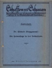 Schaffen und Schauen, 1928, Jg. 4, Sonderheft
