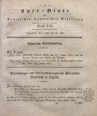 Amts-Blatt der Königlichen Oppelnschen Regierung, 1830, Bd. 15, St. 16