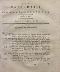 Amts-Blatt der Königlichen Oppelnschen Regierung, 1830, Bd. 15, St. 17