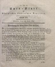 Amts-Blatt der Königlichen Oppelnschen Regierung, 1830, Bd. 15, St. 20