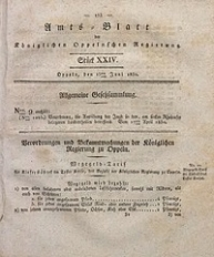 Amts-Blatt der Königlichen Oppelnschen Regierung, 1830, Bd. 15, St. 24