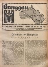 Grenzgau Schlesien, 1924, August