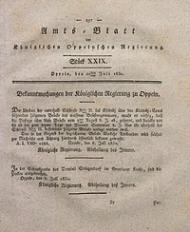 Amts-Blatt der Königlichen Oppelnschen Regierung, 1830, Bd. 15, St. 29