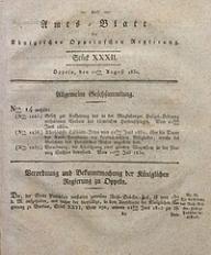 Amts-Blatt der Königlichen Oppelnschen Regierung, 1830, Bd. 15, St. 32