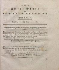 Amts-Blatt der Königlichen Oppelnschen Regierung, 1830, Bd. 15, St. 39