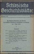 Schlesische Geschichtsblätter, 1930, Nr. 3