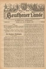 Aus dem Beuthener Lande, 1926, Jg. 3, Nr. 28