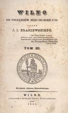 Wilno. Od początków jego do roku 1750. Tom III.