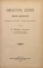 Gimnastyczne leczenie chorób niewieścich według metody Thure-Brandta