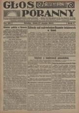 Głos Poranny, 1922, R. 1, nr 43