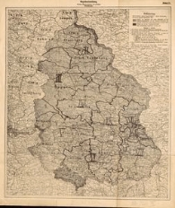 Bezirkseinteilung. Deutsche Abstimmungskarte mit polnischen Einzeichnungen
