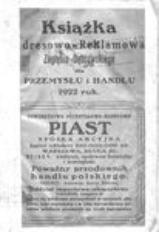 Książka Adresowo-Reklamowa Zagłębia Dąbrowskiego dla Przemysłu i Handlu 1922