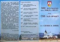 300-lecie kościoła p.w. Świętej Trójcy oraz 750-lecie Opawicy.