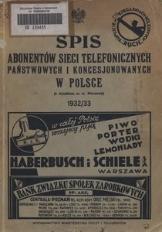 Spis abonentów sieci telefonicznych państwowych i koncesjonowanych w Polsce (z wyjątkiem m. st. Warszawy)