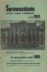 Sprawozdanie Macierzy Szkolnej w Czechosłowacji, 1932