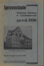 Sprawozdanie Macierzy Szkolnej w Czechosłowacji, 1936