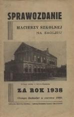 Sprawozdanie Macierzy Szkolnej na Zaolziu, 1938