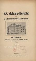 Jahres-Bericht des k. k. Kronprinz Rudolf-Gymnasiums in Friedek, 1914/1915
