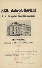 Jahres-Bericht des k. k. Kronprinz Rudolf-Gymnasiums in Friedek, 1915/1916