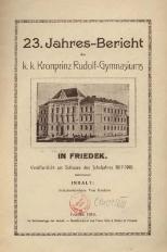 Jahres-Bericht des k. k. Kronprinz Rudolf-Gymnasiums in Friedek, 1917/1918