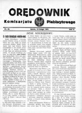Orędownik Komisarjatu Plebiscytowego, 1921, R. 2, nr 30