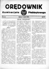 Orędownik Komisarjatu Plebiscytowego, 1921, R. 2, nr 31